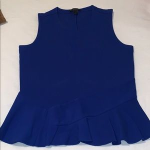 Jcrew Royal blue peplum top